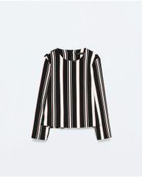 Zara Striped Top - Lyst
