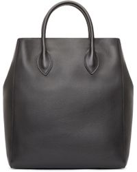 Burberry Prorsum - Black Leather Carry all Tote - Lyst fddb07972b387