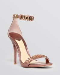 B Brian Atwood Open Toe Sandals - Ciara Beaded High Heel - Lyst