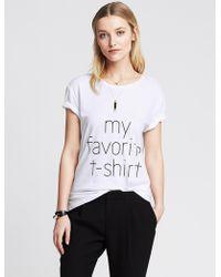 "Banana Republic ""My Favorite T-Shirt"" Graphic Tee - Lyst"
