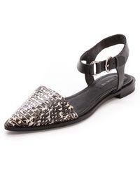 Rachel Zoe Iris Ankle Strap Flats Roccia - Lyst