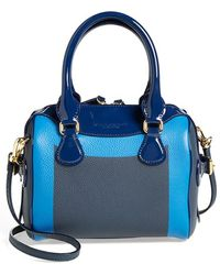 Burberry Prorsum Patent Trim Satchel blue - Lyst