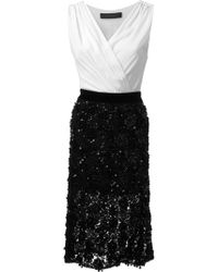 Christian Pellizzari Wrap Top Sequins Embroidered Bottom Dress - Lyst