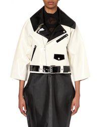 Junya Watanabe High-Gloss Biker Jacket - For Women black - Lyst