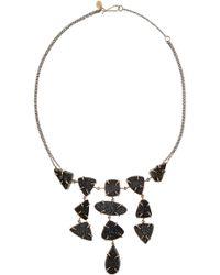 Melissa Joy Manning Sterling Silver 14-karat Gold and Druzy Necklace - Lyst