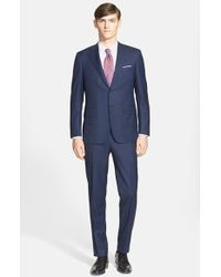 Canali Classic Fit Wool Suit blue - Lyst