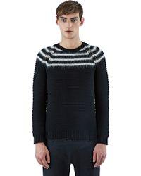 Saint Laurent | Striped Wool Knit Sweater | Lyst