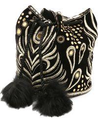 Temperley London - Hanni Velvet Bag - Black/gold - Lyst