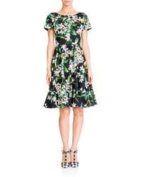 Dolce & Gabbana Zagara Floral Poplin Dress - Lyst