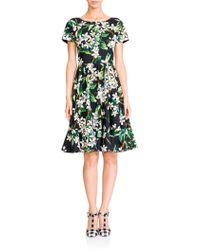 Dolce & Gabbana Zagara Floral Poplin Dress black - Lyst