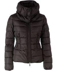 Moncler Black Padded Coat - Lyst
