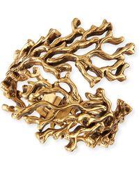 Oscar de la Renta Golden Coral Branch Bracelet - Lyst