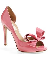 Valentino 'Couture Bow' D'Orsay Pump pink - Lyst