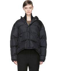Maison Martin Margiela Black Nylon Layered Puffer Jacket - Lyst