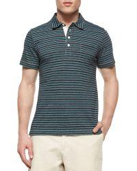 Billy Reid - Pensacola Striped Jersey Polo Shirt & Wynn Triple-Washed Chino Shorts - Lyst