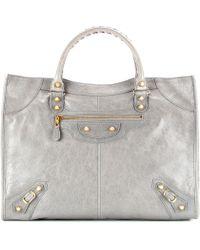Balenciaga Giant Monday Leather Tote - Lyst