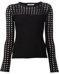 T By Alexander Wang Perforated Longsleeve - Lyst