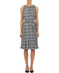 L'Agence Graph-Print Pleated Dress - Lyst