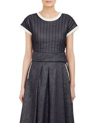 Bottega Veneta Channel-Stitched Top - Lyst