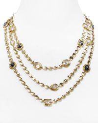 "Melinda Maria - Mighty Goddess Stone Triple Necklace, 17"" - Lyst"