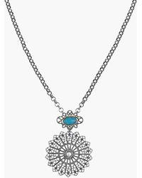 Sam Edelman - Filigree Pendant Necklace - Turquoise - Lyst