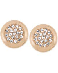Swarovski Crystal Pavé Stud Earrings - Lyst