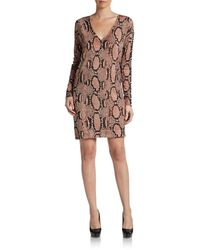 Stella McCartney Snake and Heart-print Wool Dress - Lyst