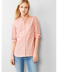 Gap Fitted Boyfriend Oxford Shirt - Lyst