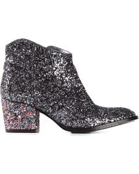 Zadig & Voltaire Glitter Ankle Boots - Lyst