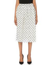 Erdem Silk Organza Midi Dot Skirt - Lyst