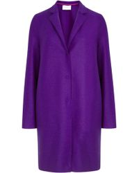 Harris Wharf London - Violet Pressed Wool Coat - Lyst