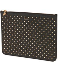 Alexander McQueen Studded Nappa Leather Pouch - Lyst