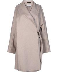 Acne Studios Gray Fulllength Jacket - Lyst
