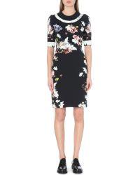 Erdem Ivy Floral-print Stretch-crepe Dress - Lyst