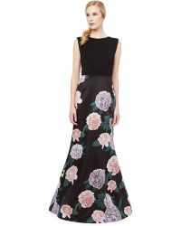 Erin Fetherston Constance Floral Print Gown - Lyst