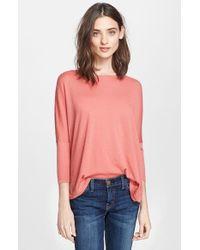 Autumn Cashmere Drop Shoulder Asymmetrical Cashmere Sweater - Lyst