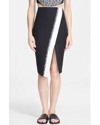 Elizabeth And James 'Bradshaw' Asymmetrical Wrap Pencil Skirt - Lyst