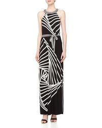 BCBGMAXAZRIA Origami Rose Print Maxi Dress - Lyst