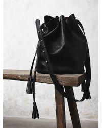 Free People Bleeker Bucket Bag black - Lyst