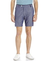 Descendant Of Thieves | Blue Printed Reversible Woven Shorts | Lyst