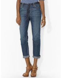 Ralph Lauren  Boyfriend Jeans with Rolled Cuffs - Lyst