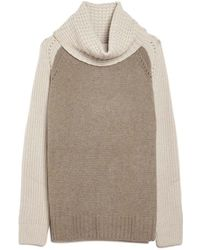 Autumn Cashmere | Two-tone Cowl Sweater | Lyst