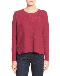 Madewell | 'landmark' Texture Sweater | Lyst