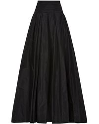 Carolina Herrera Taffeta Long Skirt - Lyst