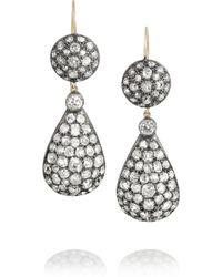 Olivia Collings - 1970S Silver Diamond Earrings - Lyst