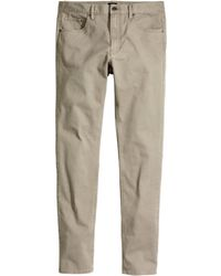 H&M Twill Trousers Skinny Fit brown - Lyst