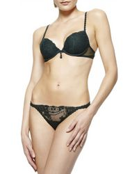 La Perla Ardientemente Thong green - Lyst