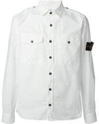 Stone Island Sleeve Patch Shirt - Lyst