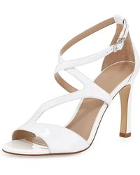 Andrew Stevens | Dina Strappy Patent Leather Sandal | Lyst