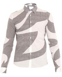 Alexander McQueen Hound'S-Tooth Check-Print Cotton Shirt - Lyst